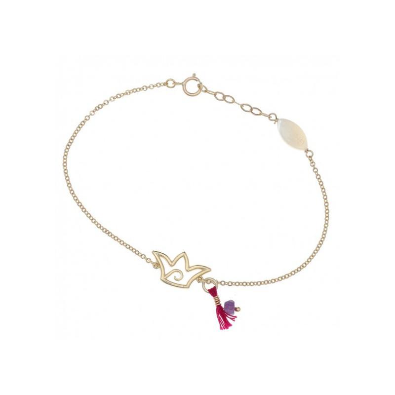 Ροζ χρυσό βραχοίλι Gregio 23654