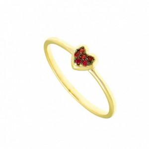 Χρυσό δαχτυλίδι Gregio 30038K