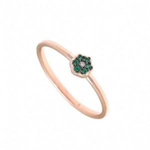 Ροζ χρυσό δαχτυλίδι Gregio...