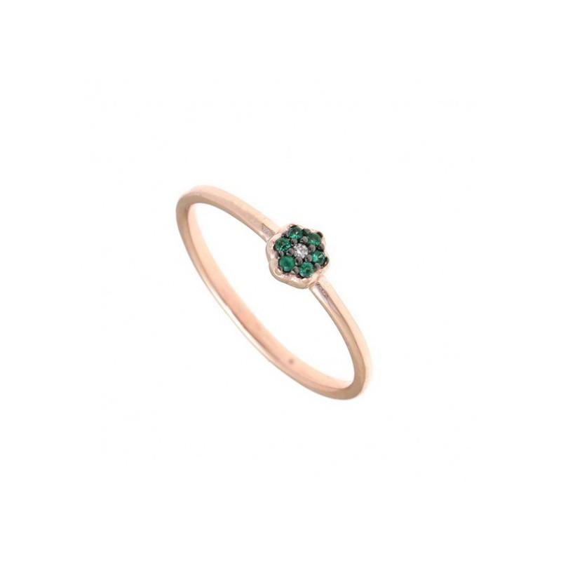 Ροζ χρυσό δαχτυλίδι Gregio 30040R