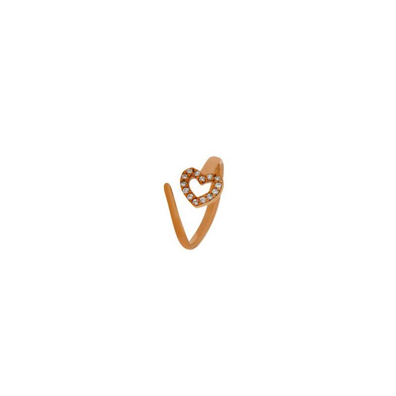 Δαχτυλίδι ασημένιο ανοιγόμενο (σεβαλιέ) σε σχήμα καρδιάς 04-04-2754 roz-white