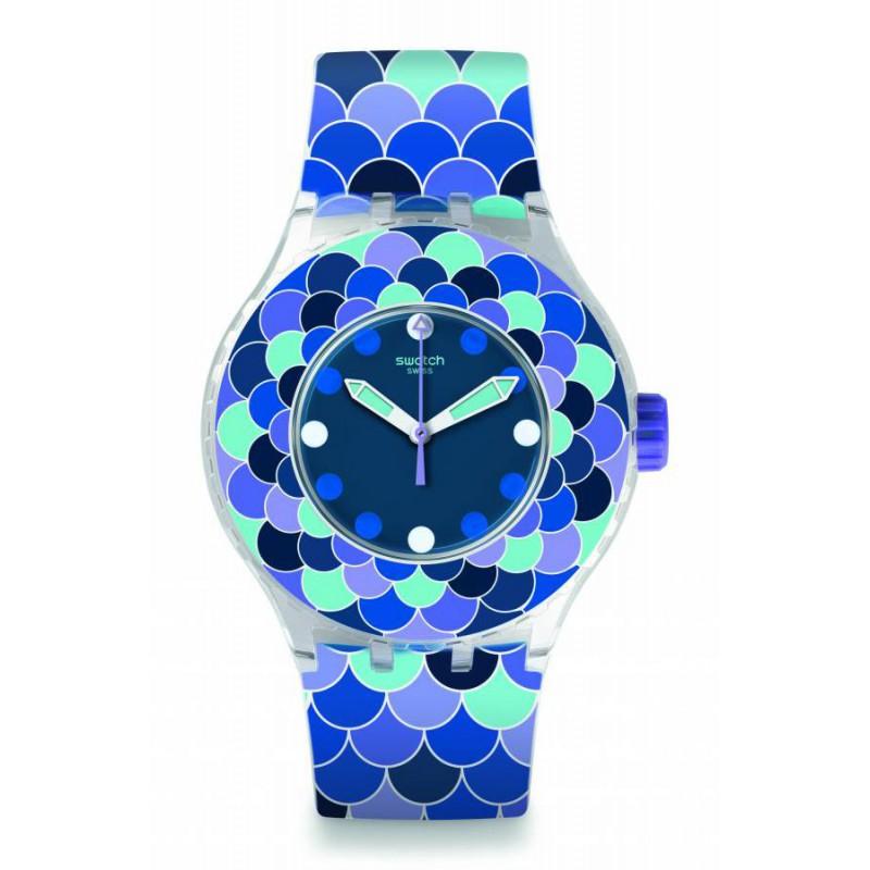 Ρολόι SWATCH SUUK110 Pedrinha Azul με Μπλέ Καουτσούκ Λουράκι