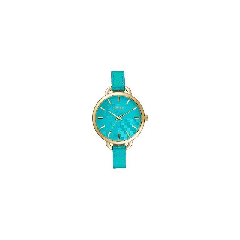 Ρολόι OXETTE 11x65-00149 με Τιρκουάζ Δερμάτινο Λουράκι
