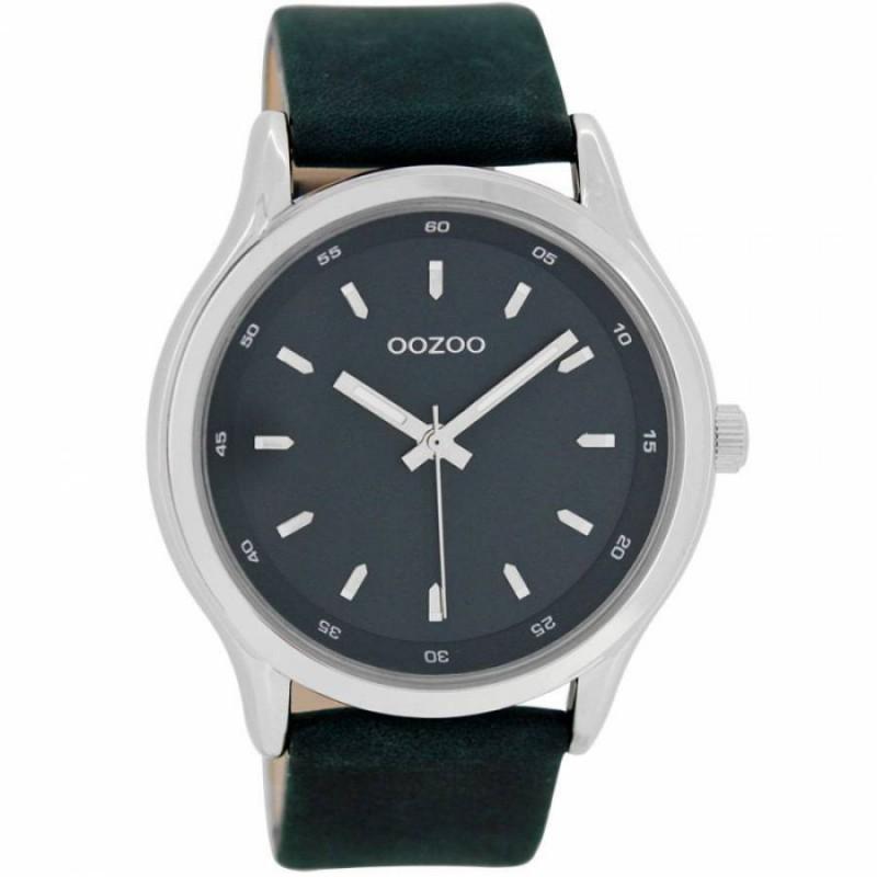 Ρολόι OOZOO C7438 Timepieces Xl με Μπλέ Δερμάτινο Λουράκι