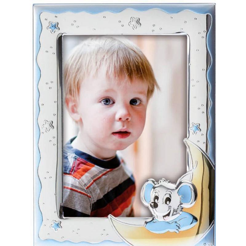 Ασημένια παιδική κορνίζα για αγόρι 13cmΧ18cm MA/126/BC